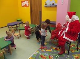 Święty Mikołaj w Przedszkolu językowym w Łodzi