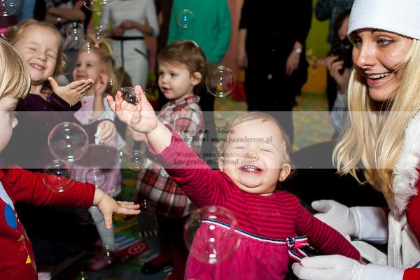 Dzieci w przedszkolu w Łodzi