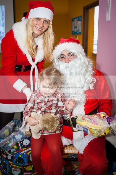 Święty Mikołaj w prywatnym przedszkolu w Łodzi